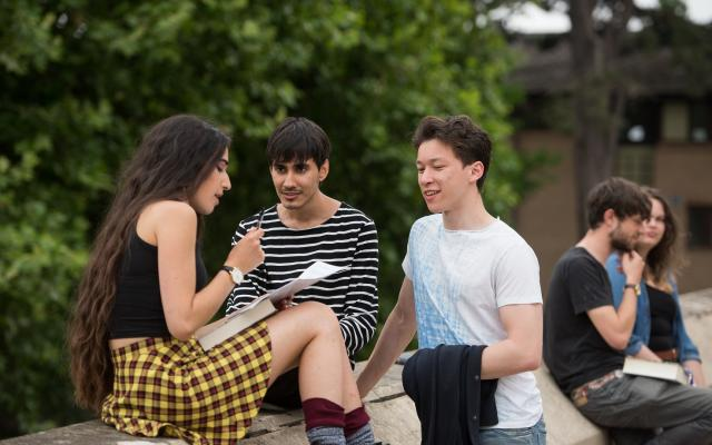 Students Chatting