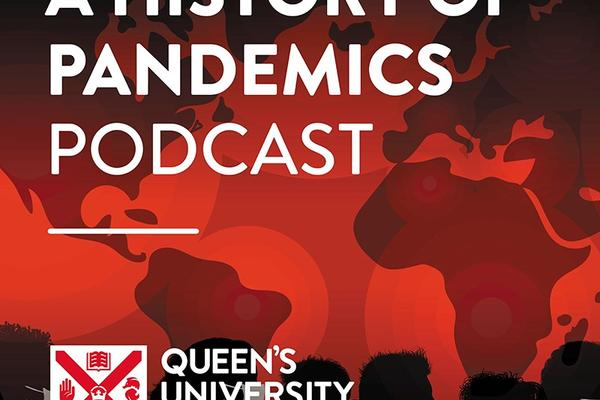 A history of pandemics podcast logo
