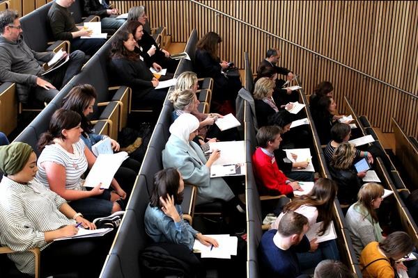 Image of teachers in lecture theatre