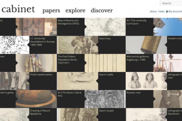 Cabinet project website screenshot