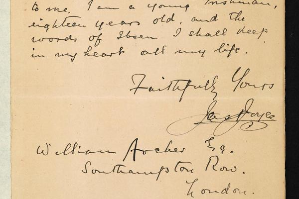 letter from james joyce