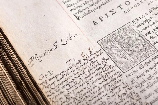 close up of manuscript