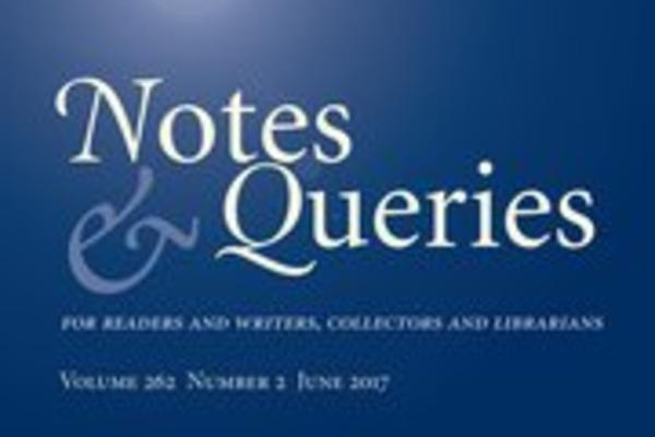 notes and queries cover