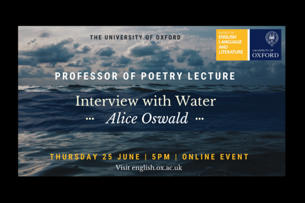 Professor of Poetry lecture poster
