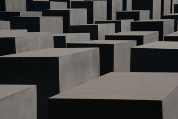 Close-up of the memorial to the murdered Jews of Europe in Berlin