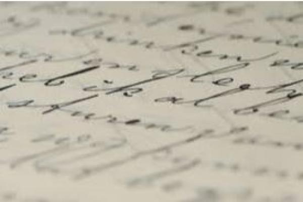 Close-up of writing