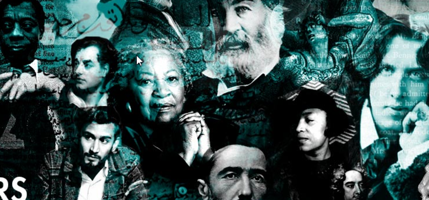 Montage of writers who feature on Great Writers Inspire website
