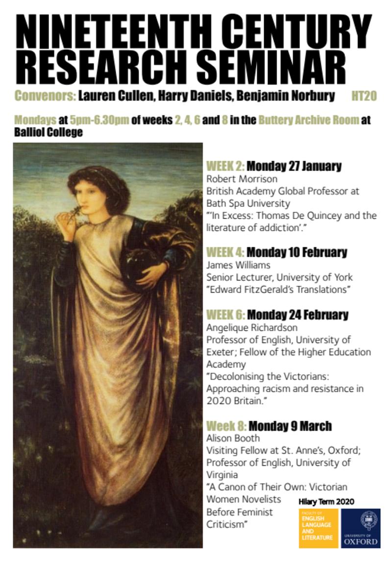 nineteenth century research seminar ht20