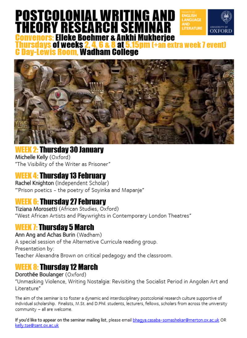 postcolonial writing and theory research seminar ht20