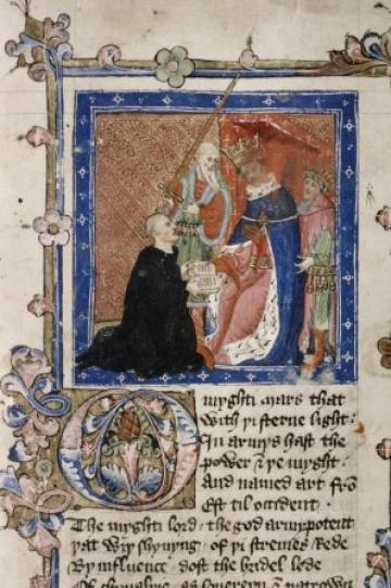Bod MS Digby 232 fol 1 - Lydgate and Henry V