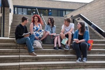 Students on Faculty Steps